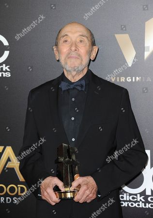 Albert Wolsky, winner of the Hollywood costume design award, arrives at the 20th annual Hollywood Film Awards at the Beverly Hilton Hotel, in Beverly Hills, Calif