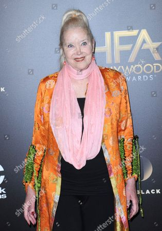 Sally Kirkland arrives at the 20th annual Hollywood Film Awards at the Beverly Hilton Hotel, in Beverly Hills, Calif