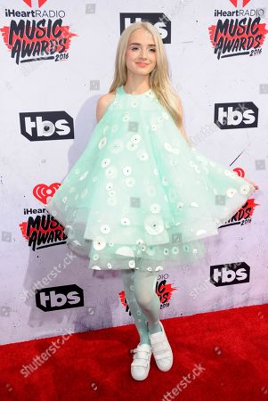 Stock Image of That Poppy arrives at the iHeartRadio Music Awards at The Forum, in Inglewood, Calif