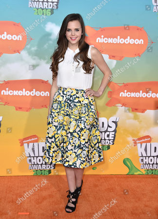 Tiffany Alvord arrives at the Kids' Choice Awards at The Forum, in Inglewood, Calif