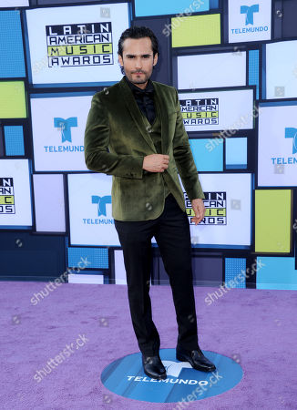 Fabian Rios arrives at the Latin American Music Awards at the Dolby Theatre, in Los Angeles