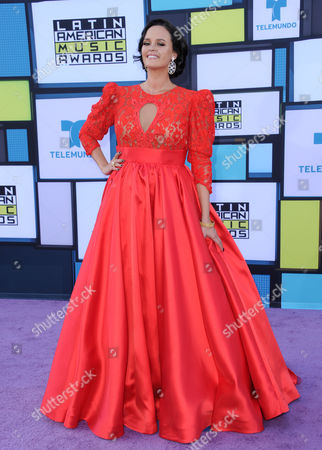 Stock Picture of Shaila Durcal arrives at the Latin American Music Awards at the Dolby Theatre, in Los Angeles