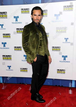 Fabian Rios poses backstage at the Latin American Music Awards at the Dolby Theatre, in Los Angeles