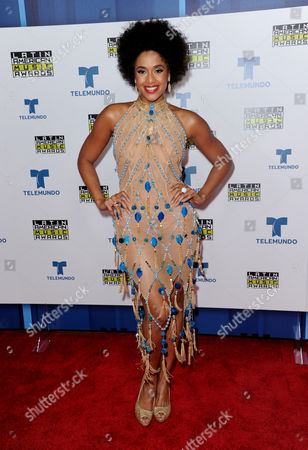 Jeimy Osorio poses backstage at the Latin American Music Awards at the Dolby Theatre, in Los Angeles