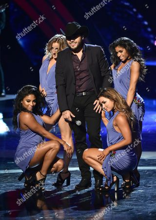 Gerardo Ortiz performs at the Latin American Music Awards at the Dolby Theatre, in Los Angeles