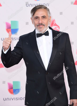 Stock Picture of Alejandro Lerner arrives at the 17th annual Latin Grammy Awards at the T-Mobile Arena, in Las Vegas