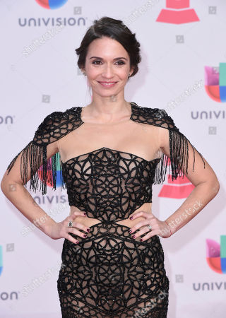 Diana Fuentes arrives at the 17th annual Latin Grammy Awards at the T-Mobile Arena, in Las Vegas