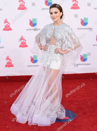 Stock Picture of Angelique Boyer arrives at the 17th annual Latin Grammy Awards at the T-Mobile Arena, in Las Vegas