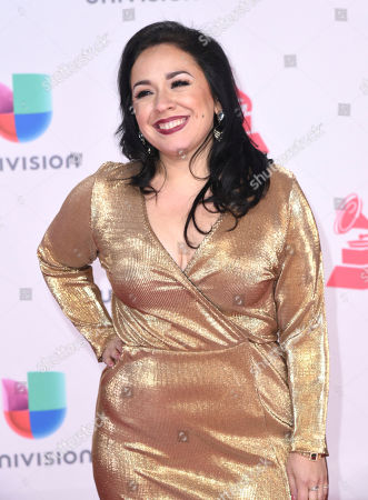 Carla Morrison arrives at the 17th annual Latin Grammy Awards at the T-Mobile Arena, in Las Vegas