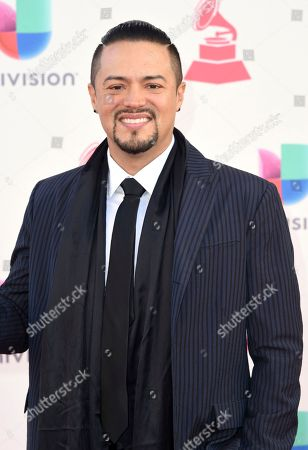 Andy Vargas arrives at the 17th annual Latin Grammy Awards at the T-Mobile Arena, in Las Vegas