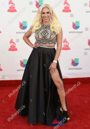 Stock Photo of Abigail Pereira arrives at the 17th annual Latin Grammy Awards at the T-Mobile Arena, in Las Vegas