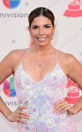 Fernanda Kelly arrives at the 17th annual Latin Grammy Awards at the T-Mobile Arena, in Las Vegas