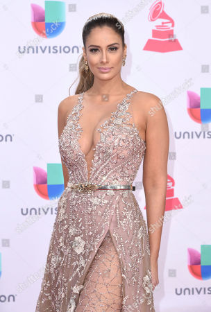 Aleyda Ortiz arrives at the 17th annual Latin Grammy Awards at the T-Mobile Arena, in Las Vegas