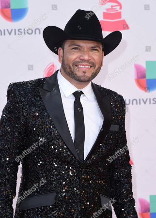 Gerardo Ortiz arrives at the 17th annual Latin Grammy Awards at the T-Mobile Arena, in Las Vegas