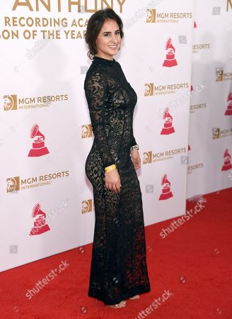 Stock Image of Paulina Reza arrives at the Latin Recording Academy Person of the Year Tribute honoring Marc Anthony at the MGM Grand Garden Arena, in Las Vegas
