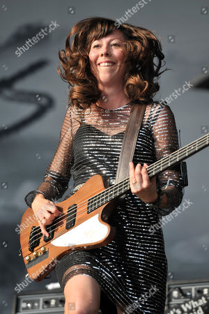 Nikki Monninger of Silversun Pickups performs on day 4 at Lollapalooza in Grant Park, in Chicago