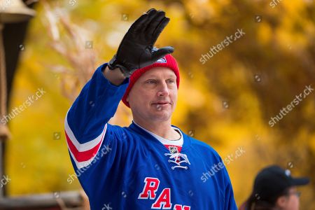 Former NHL player Adam Graves is seen during the Macy's Thanksgiving Day Parade, in New York