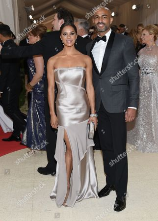 """Stock Picture of Misty Copeland, left, and Olu Evans arrive at The Metropolitan Museum of Art Costume Institute Benefit Gala, celebrating the opening of """"Manus x Machina: Fashion in an Age of Technology"""", in New York"""