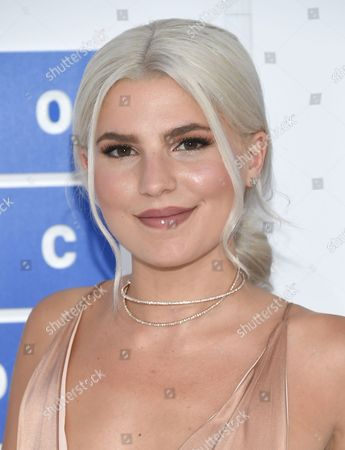 Carly Aquilino arrives at the MTV Video Music Awards at Madison Square Garden, in New York