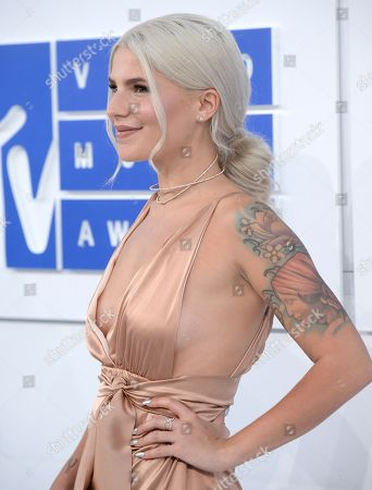 Stock Image of Carly Aquilino arrives at the MTV Video Music Awards at Madison Square Garden, in New York