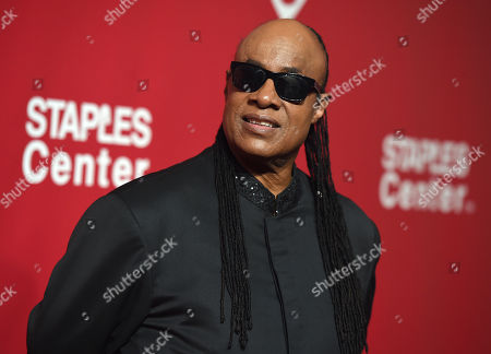 Stevie Wonder arrives at the MusiCares Person of the Year tribute honoring Lionel Richie at the Los Angeles Convention Center on