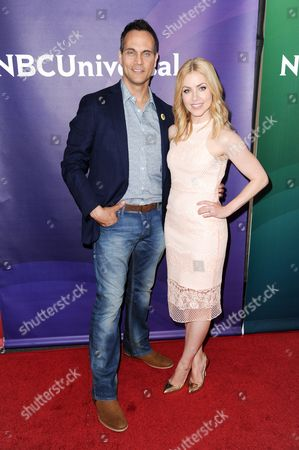 Todd Stashwick, left, and Amanda Schull attend the 2016 NBC Universal Summer Press Day held at the Four Seasons Hotel, in Westlake Village, Calif