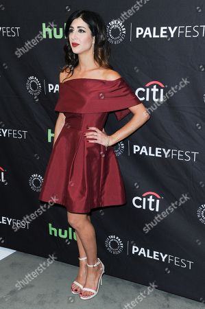 "Dana DeLorenzo attends the ""Ash vs Evil Dead"" screening and panel discussion at the 2016 PaleyFest Fall TV Previews, in Beverly Hills, Calif"