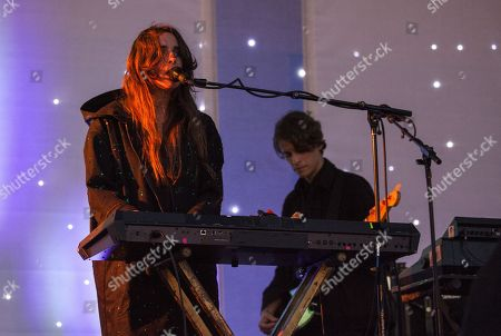 Stock Image of Victoria Legrand and Skyler Skjelset of Beach House seen at the 2016 Pitchfork Music Festival, on in Chicago