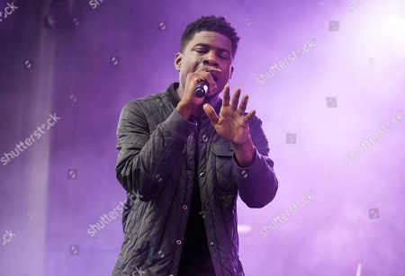 American hip hop recording artist Mick Jenkins seen at the 2016 Pitchfork Music Festival, on in Chicago