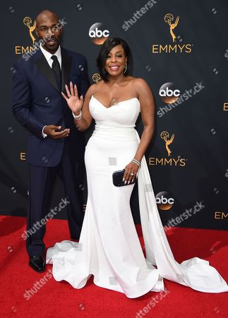 Niecy Nash, right, and Jay Tucker arrive at the 68th Primetime Emmy Awards, at the Microsoft Theater in Los Angeles