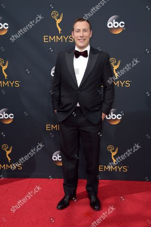 Mike Carlsen arrives at the 68th Primetime Emmy Awards, at the Microsoft Theater in Los Angeles