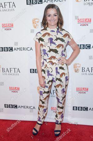 Eliza Bennett attends the 2016 BAFTA Los Angeles TV Tea, in West Hollywood, Calif