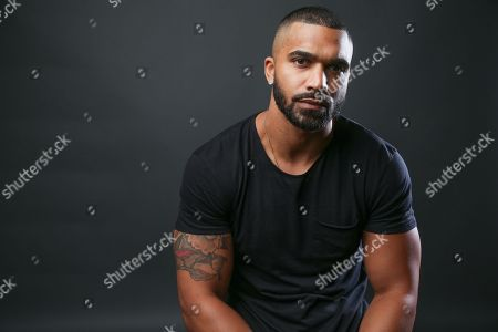 """Tyler Lepley, a cast member in the the TV One series """"Ringside,"""" poses for a portrait during the 2016 Television Critics Association Summer Press Tour at the Beverly Hilton, in Beverly Hills, Calif"""