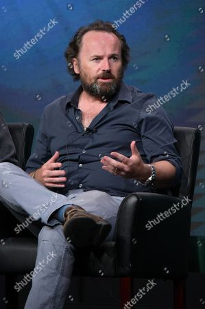 """Executive producer/director Rupert Wyatt participates in the panel for """"The Exorcist"""" during the Fox Television Critics Association summer press tour, in Beverly Hills, Calif"""