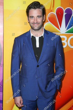 "Colin Donnell, a cast member in the television series ""Chicago Med,"" arrives at the NBCUniversal Television Critics Association summer press tour, in Beverly Hills, Calif"