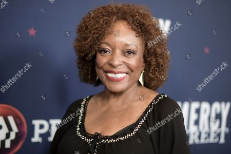 "L. Scott Caldwell poses for photos during the ""Mercy Street Season 2"" portion of the PBS Television Critics Association summer press tour, in Beverly Hills, Calif"