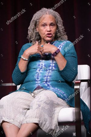 "Charlayne Hunter-Gault participates in the ""Black America Since MLK: And Still I Rise"" panel during the PBS Television Critics Association summer press tour, in Beverly Hills, Calif"