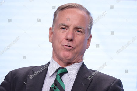 "Howard Dean participates in ""The Contenders: 16 for 16"" panel during the PBS Television Critics Association summer press tour, in Beverly Hills, Calif"