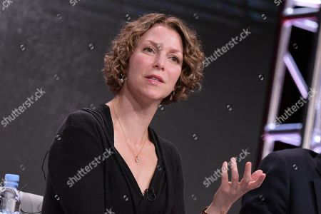 "Executive Producer Raney Aronson-Rath participates in Frontline's ""The Choice"" panel during the PBS Television Critics Association summer press tour, in Beverly Hills, Calif"
