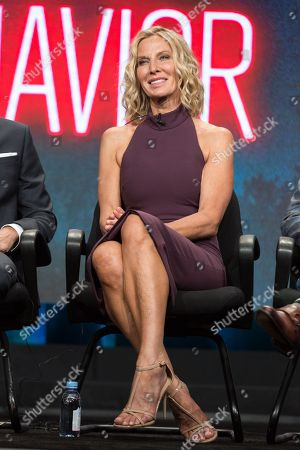 """Lusia Strus participates in the TNT """"Good Behavior"""" panel during the Turner Networks TV Television Critics Association summer press tour, in Beverly Hills, Calif"""