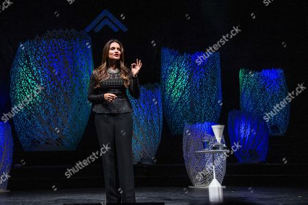 Stock Picture of Shefali Tsabary performs on board the Norwegian Escape during day 1 of the Summit at Sea cruise on in Miami