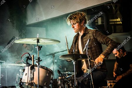 Mark Pontius of Foster The People performs on board the Norwegian Escape during day 1 of the Summit at Sea cruise on in Miami