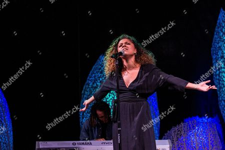 Eryn Allen Kane performs on board the Norwegian Escape during day 1 of the Summit at Sea cruise on in Miami