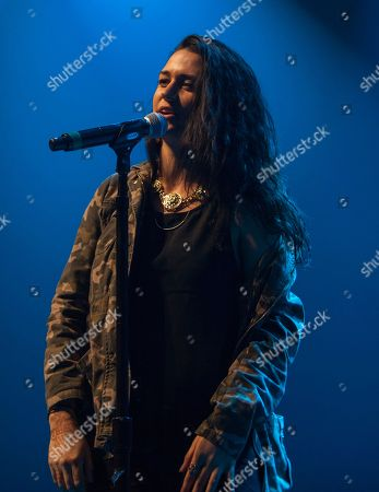 Kat Dahlia peforms at the Perez Hilton: One Night in Austin, during the South by Southwest Music Festival, in Austin, Texas