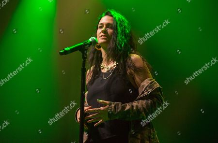 Stock Photo of Kat Dahlia peforms at the Perez Hilton: One Night in Austin, during the South by Southwest Music Festival, in Austin, Texas