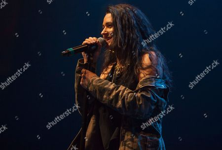 Stock Picture of Kat Dahlia peforms at the Perez Hilton: One Night in Austin, during the South by Southwest Music Festival, in Austin, Texas