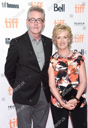 Chair of TIFF board of directors, Lisa de Wilde, right, and TIFF director and CEO, Piers Handling, attend the TIFF Soiree, an annual fundraiser and celebratory kick-off for the 2016 Toronto International Film Festival, at the TIFF Bell Lightbox, in Toronto
