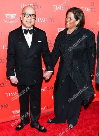 Ford Foundation president Darren Walker and actress Anna Deavere Smith attend the TIME 100 Gala, celebrating the 100 most influential people in the world, at Frederick P. Rose Hall, Jazz at Lincoln Center, in New York