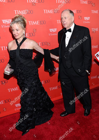 T. Boone Pickens, right, and wife Toni Chapman Brinker attend the TIME 100 Gala, celebrating the 100 most influential people in the world, at Frederick P. Rose Hall, Jazz at Lincoln Center, in New York