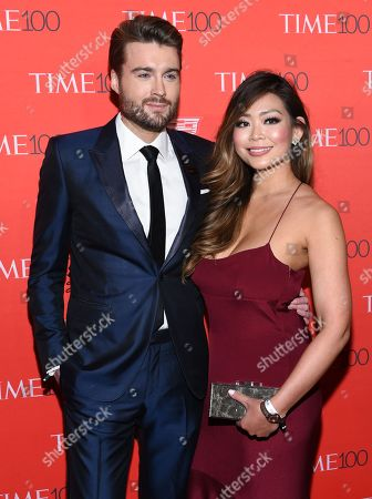 Stock Photo of Mashable founder and CEO Peter Cashmore and girlfriend Kimmy Huynh attend the TIME 100 Gala, celebrating the 100 most influential people in the world, at Frederick P. Rose Hall, Jazz at Lincoln Center, in New York